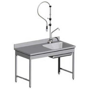 pin table inox adossee 700x1000mm on pinterest. Black Bedroom Furniture Sets. Home Design Ideas