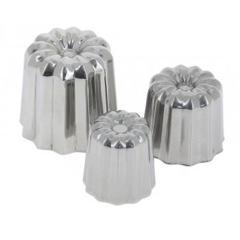 MOULE A CANNELES EN INOX - DE BUYER